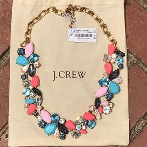 J Crew Pink Mixed Stones Necklace W/ Dust Bag!